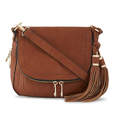 ALDO Kahaluu leather saddle bag (Cognac