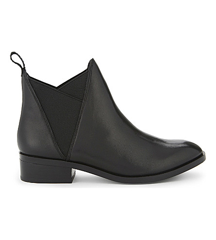ALDO Scotch leather ankle boots (Black+leather