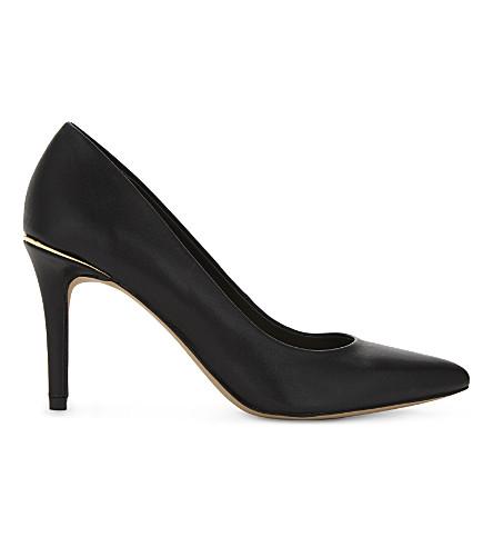 ALDO Keria leather courts (Black+leather