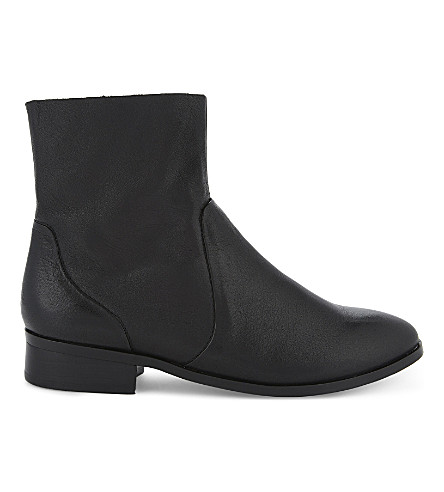 ALDO Elia leather boots (Black+leather