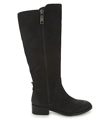 ALDO Mihaela knee-high boots (Black+nubuck
