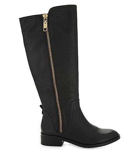 ALDO Mihaela leather knee-high boots (Black+leather