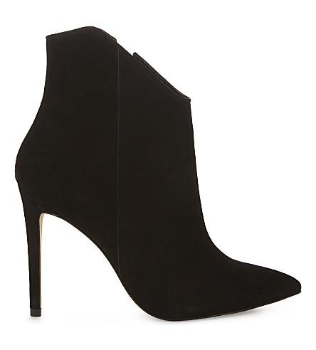 ALDO Myrona suede heeled ankle boots (Black+nubuck