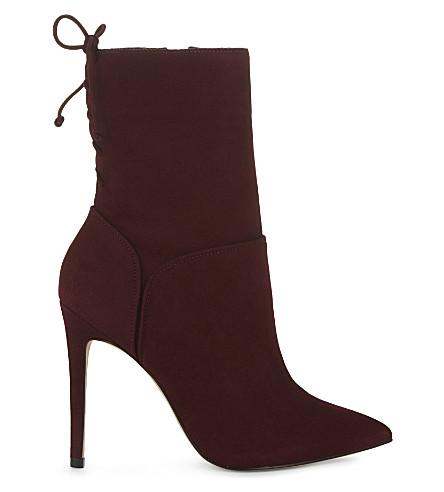 ALDO Angnes suede heeled ankle boots (Bordo+suede