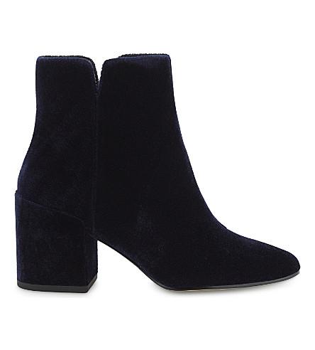 ALDO Sully velvet ankle boots (Navy miscellaneous