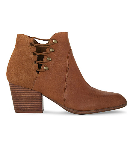 ALDO Montasico leather & suede heeled ankle boots (Camel