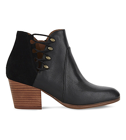ALDO Montasico leather and suede ankle boots (Black+leather