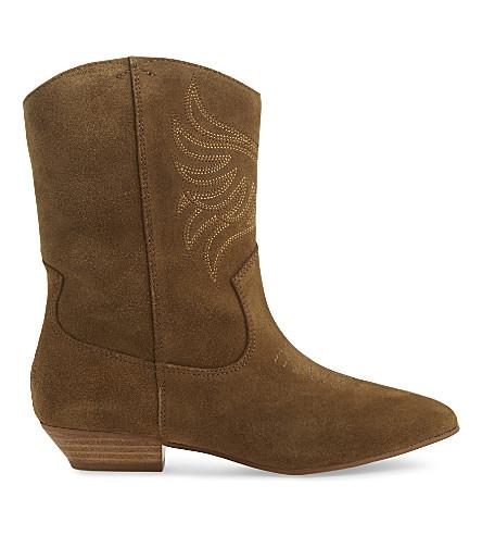 ALDO Asalidia suede cowboy boots (Light brown