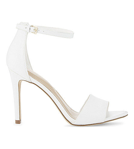 2ef1bf857163 ALDO Fiolla leather heeled sandals (White