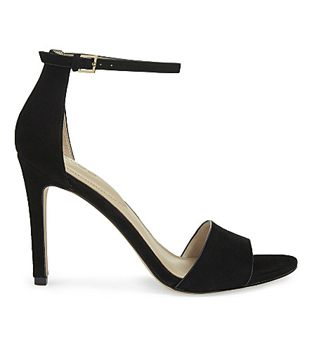 ALDO Fiolla suede heeled sandals (Black+suede