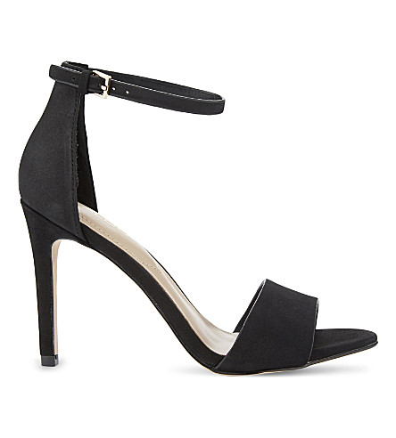 ALDO Fiolla leather heeled sandals (Black+nubuck