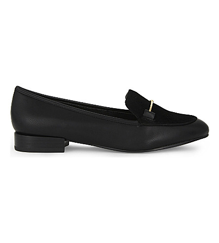 ALDO Harriett leather loafers (Black+synthetic