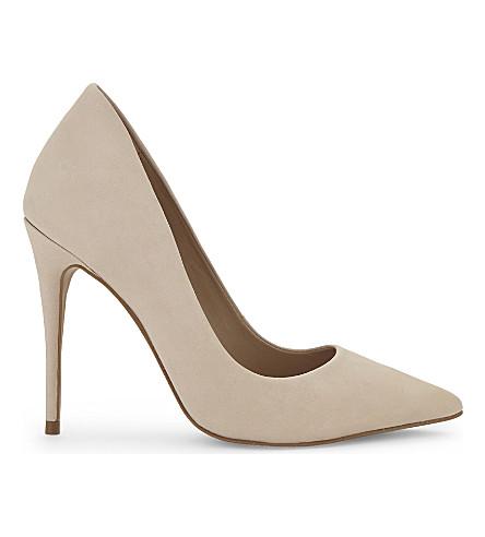 ALDO Cassedy suede court shoes (Bone+nabuck