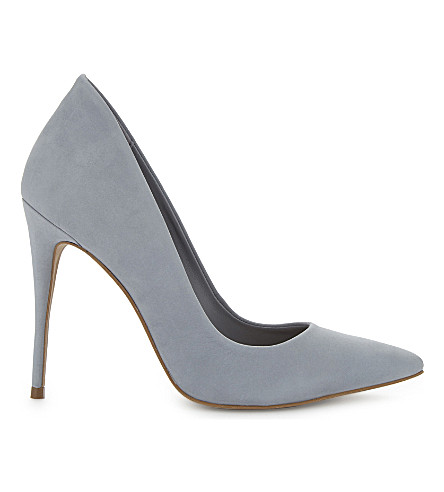 ALDO Cassedy suede court shoes (Light+blue