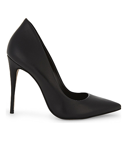 ALDO Cassedy heeled court shoes (Black+nubuck
