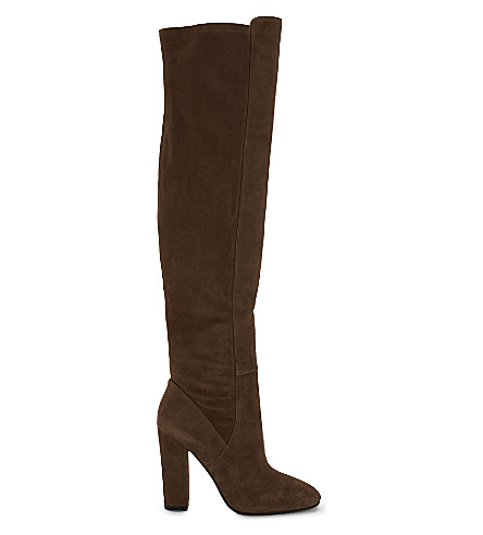 ALDO Antella suede over the knee boots (Taupe