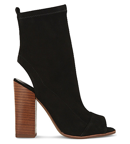 ALDO Ibania suede heeled sandals (Black+suede