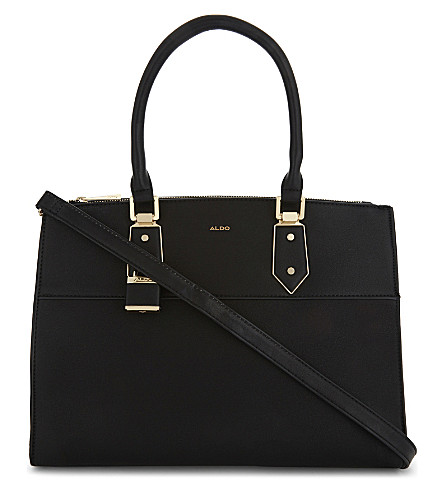 ALDO Retriever faux-leather tote (Black