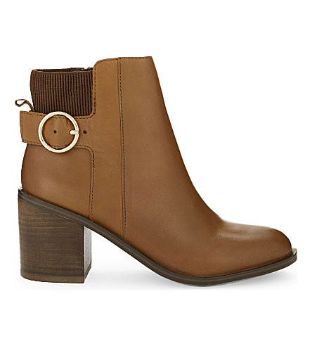 ALDO Rosaldee leather heeled ankle boots (Cognac