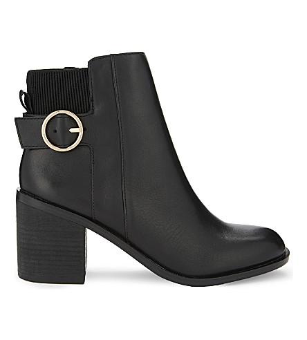 ALDO Rosaldee leather heeled ankle boots (Black+leather