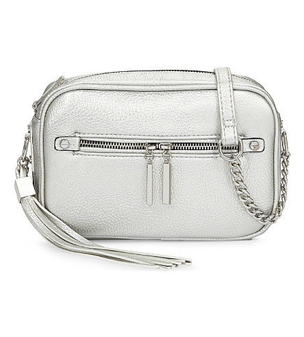 ALDO Galaniel faux-leather cross-body bag (Silver