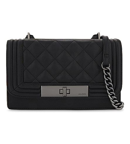 ALDO Derogali faux-leather cross-body bag (Black+leather