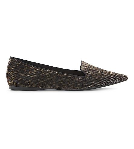 ALDO Luisi leopard-print slippers (Multi+metallic