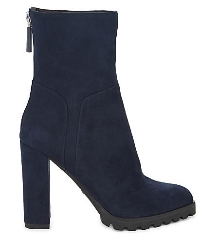 ALDO Fresa suede ankle boots (Navy+suede
