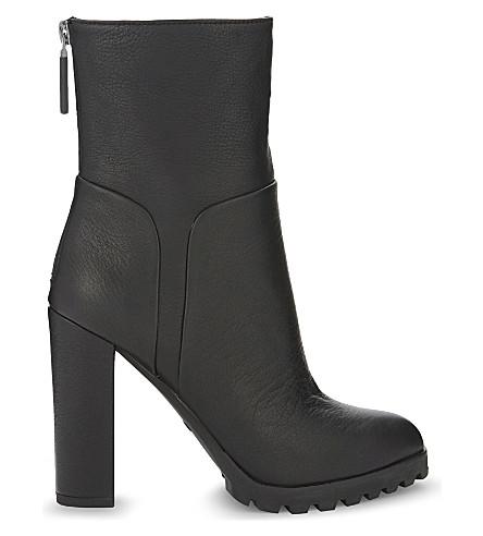 ALDO Fresa leather ankle boots (Black leather