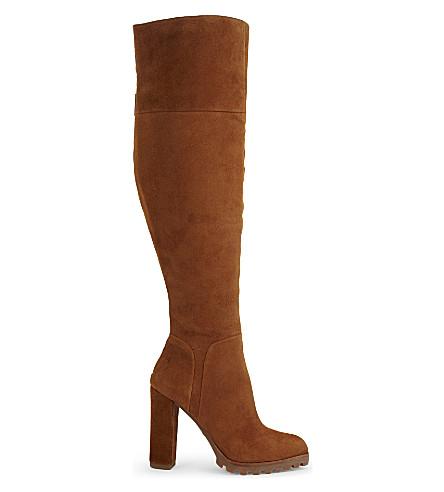 ALDO Sambuca Suede over the knee boots (Cognac