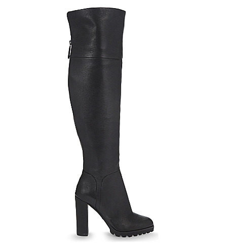 ALDO Sambuca Leather over the knee boots (Black+leather