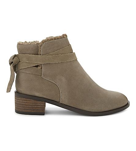aldo mykala suede ankle boots selfridges