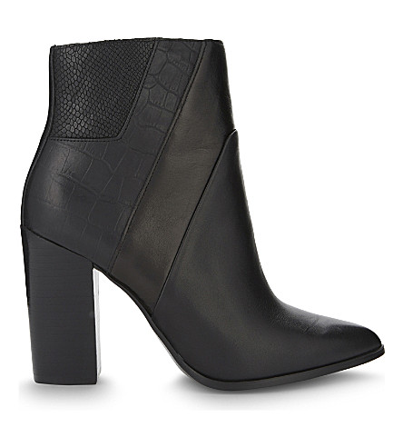 ALDO Zelina leather heeled ankle boots (Black+leather