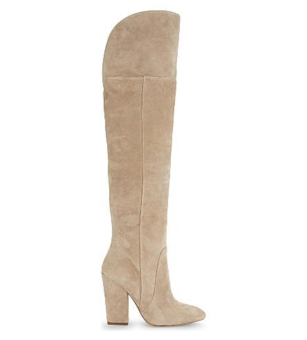 ALDO Leissa suede knee high boots (Beige