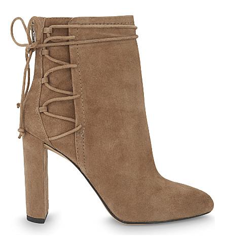 ALDO Taessa 麂皮绒脚踝靴 (褐色