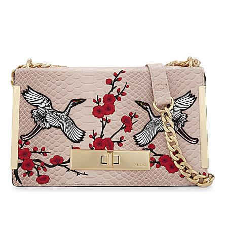 ALDO Bergantino embroidered shoulder bag (Light pink