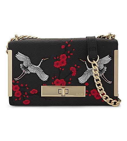 ALDO Bergantino embroidered shoulder bag (Black