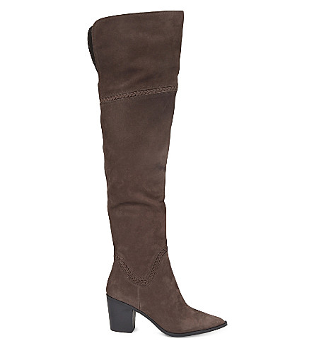 ALDO Olena suede knee high boots (Dark+brown