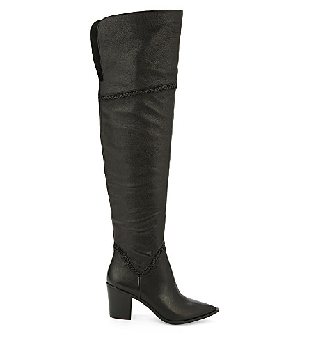 ALDO Olena leather over-the-knee boots (Black+leather