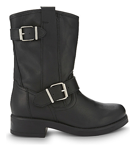 ALDO Iana leather biker boots (Black+leather