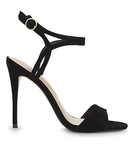 ALDO Lyviel suede heeled sandals (Black+suede