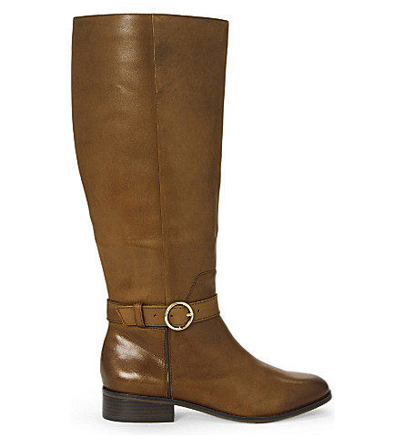ALDO Catriona leather riding bots (Cognac