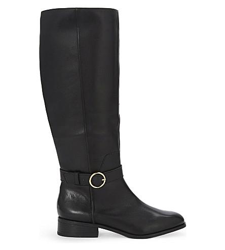 ALDO Catriona 皮革马靴 (黑色 + 皮革