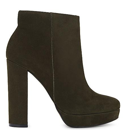 ALDO Emmanuela suede heeled ankle boots (Khaki