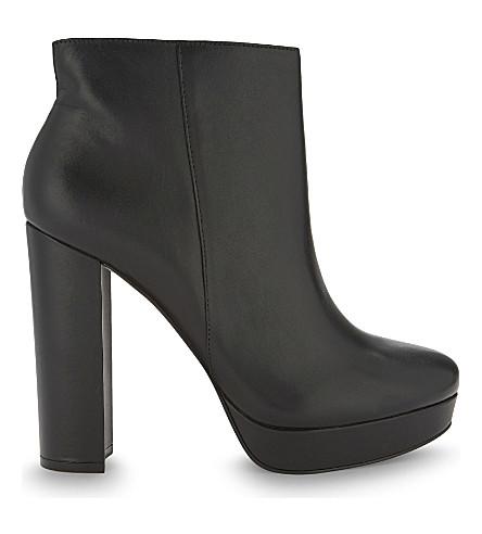 ALDO Emmanuela leather heeled ankle boots (Black+leather
