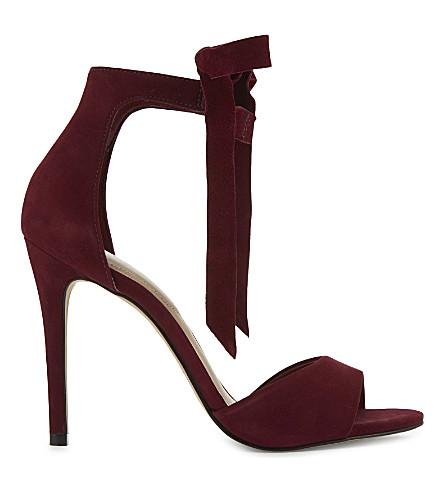 ALDO Belidda leather heeled sandals (Bordeau abarasivato