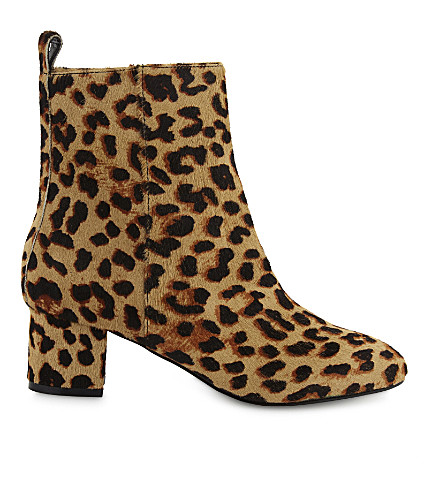 ALDO Parroni haircalf heeled ankle boots (Natural+print