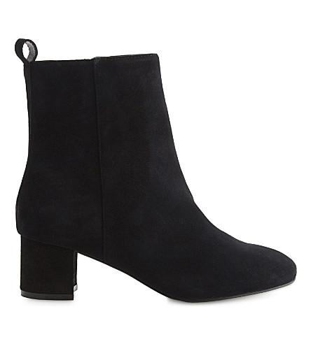 ALDO Parroni suede heeled ankle boots (Black+suede