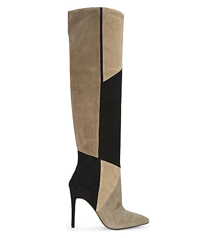 ALDO Cherell suede over the knee boots (Taupe