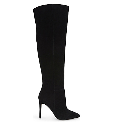 ALDO Mirinia suede over the knee boots (Black-suede